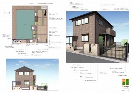 耐火煉瓦でクラシックなデザイン 太子町M様邸 イメージ図