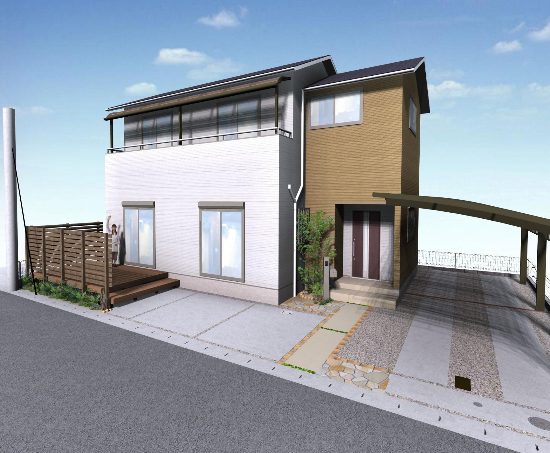 姫路市S様邸リフォームガーデン|イメージパース