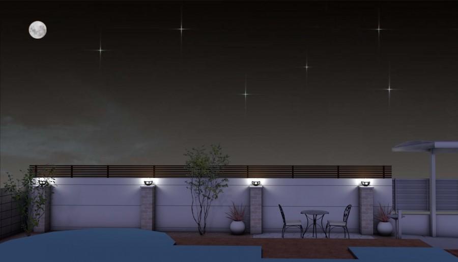 姫路市N様邸お庭プランパース夜1