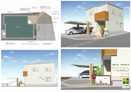木目で建物と統一感のあるデザイン 姫路市F様邸図面
