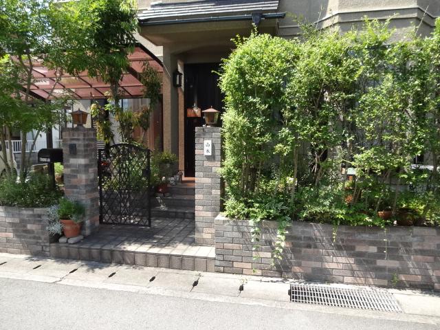 アンティークな雰囲気のお庭にリフォーム たつの市Y様邸施工前