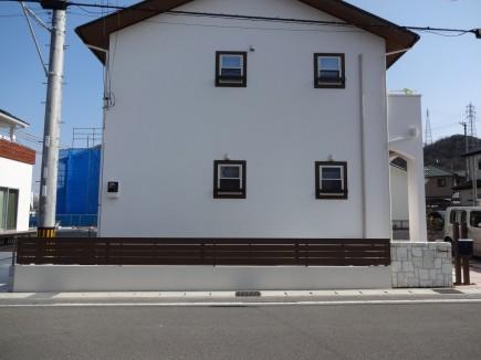 アンティークレンガ積み門柱 たつの市Y様邸3