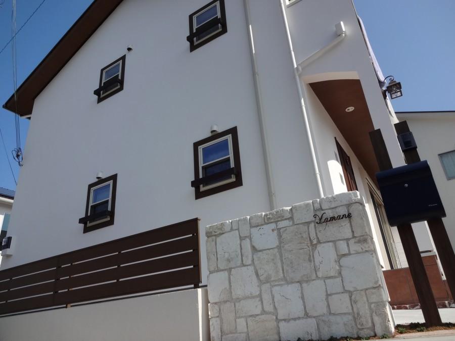 アンティークレンガ積み門柱 たつの市Y様邸5