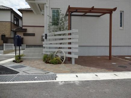大人可愛いナチュラルな門周り 姫路市K様邸4