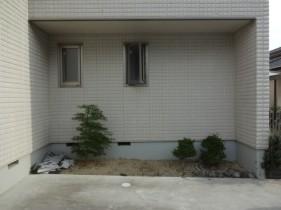 神戸市F様邸坪庭工事1施工前状況