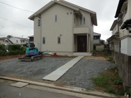 アオダモが映えるシンプルエクステリア 加古川市M様邸施工前1