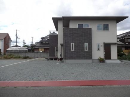 石積み門柱と株立ちのアオダモ 姫路市E様邸施工前状況2