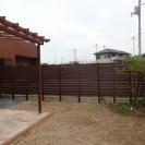 アルファウッドフェンス|ディープブラウン施工後