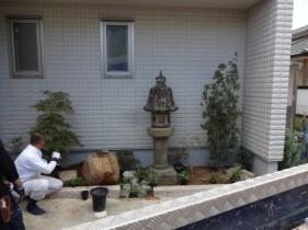 神戸市F様邸坪庭工事2