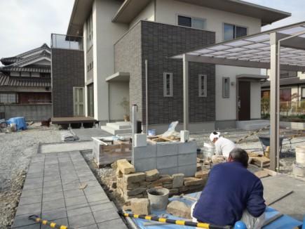 姫路市E様邸石積み工事1