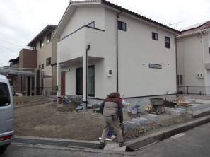 姫路市B様邸境界ブロック積み工事