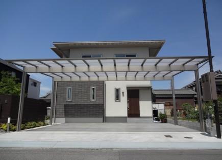 石積み門柱と株立ちのアオダモ 姫路市E様邸3