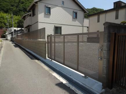 おしゃれで上品な門回り 姫路市A様邸9