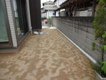 姫路市S様邸目隠しフェンス施工前2