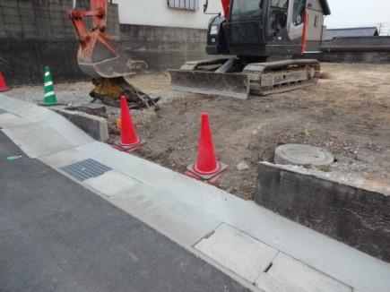 姫路市M様邸新築外構工事解体後1