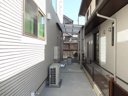 シンプルモダン|セミクローズの門回り 姫路市K様邸フーゴF独立テラス