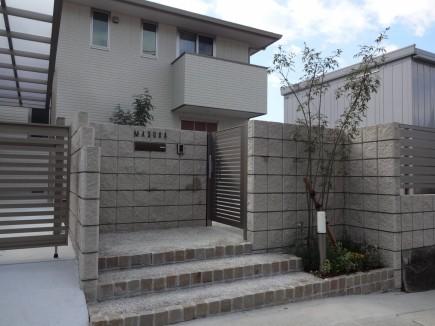 水平ラインが美しいシンプルデザイン 姫路市M様邸門回り2