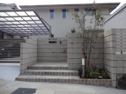 水平ラインが美しいシンプルデザイン 姫路市M様邸門回り3