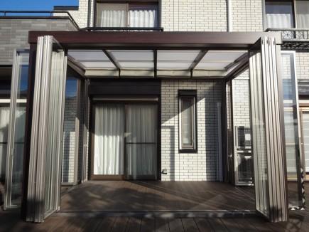 四季の変化を五感で感じるジーマガーデンルーム折戸オープン太子町T様邸