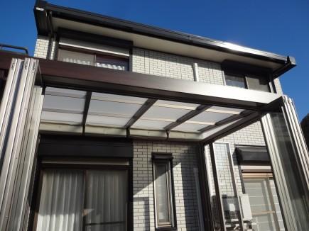 四季の変化を五感で感じるジーマガーデンルーム内部日除けオープン 太子町T様邸