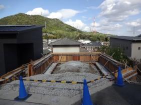 姫路市F様邸擁壁工事型枠/コンクリート打設