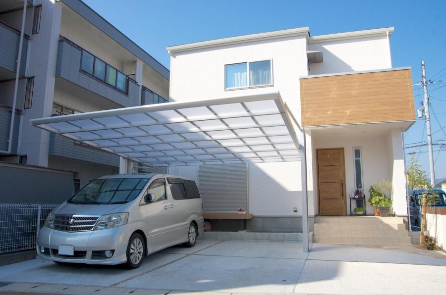 木目で建物と統一感のあるデザイン 姫路市F様邸2