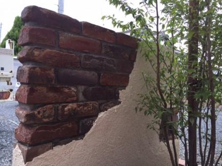 たつの市M様邸アンティーク門柱施工後
