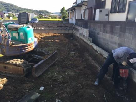姫路市N様邸エクステリア工事ブロック塀解体2
