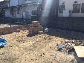 姫路市N様邸新設ブロック積み工事2