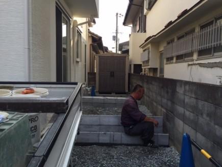 姫路市K様邸目隠しフェンス工事1