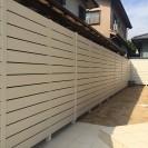 お庭が明るくなる白フェンスで目隠し 姫路市S様邸1
