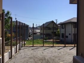 高砂市Y様邸外構工事目隠しフェンス柱