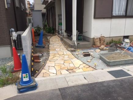 姫路市S様邸車庫拡張工事 施工中1