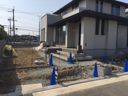 加古川市S様邸外構工事門回り1