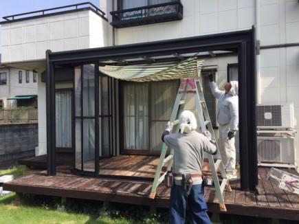 太子町T様邸既存ガーデンルーム解体2