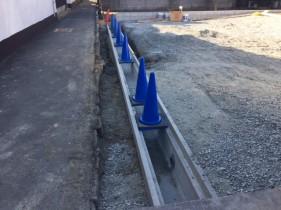 太子町Y様邸道路側溝やり替え工事施工中