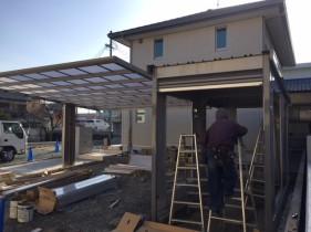 太子町Y様邸新築外構工事カーポート・ガレージ