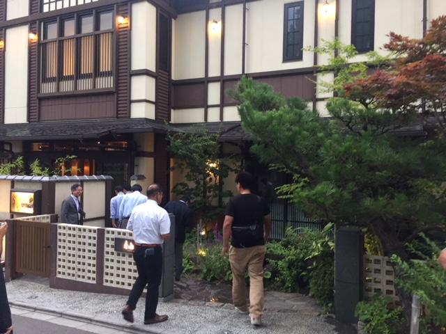 京都東山 KIYOMIZUにて懇親会