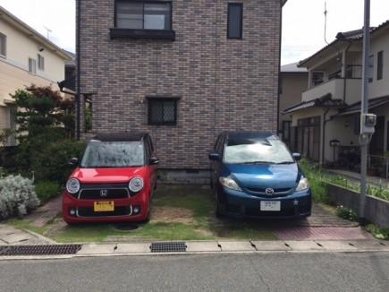 石畳み風インターロッキング敷きパーキング 姫路市M様邸