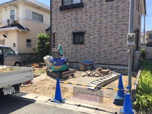 姫路市M様邸エクステリアリフォーム工事施工中2