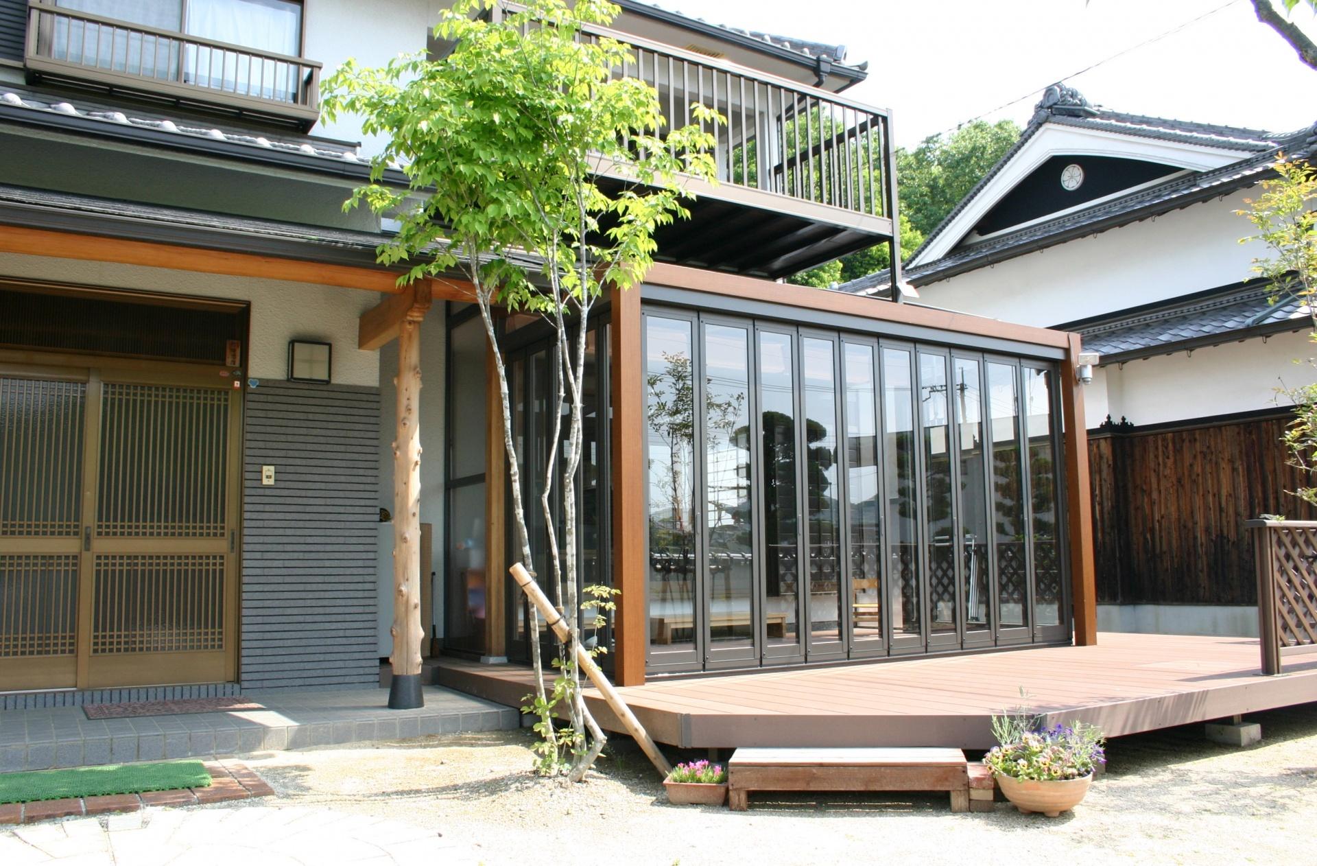 和風のお庭と一体感 zimaガーデンルーム