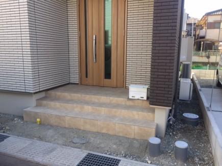 姫路市O様邸建物完成 外構工事着工前状況