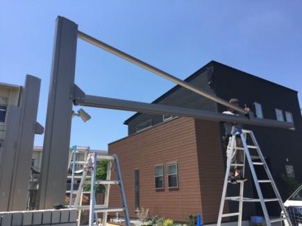 ダブルフェース屋根組立て施工1