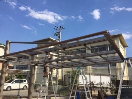 ダブルフェース屋根組立て施工2