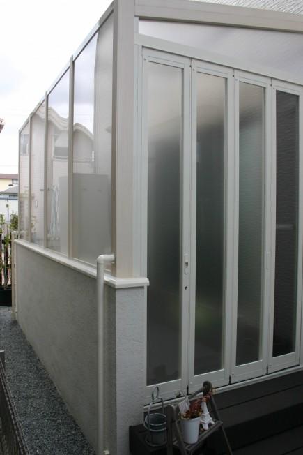 白で統一された空間 ココマガーデンルーム たつの市A様邸3