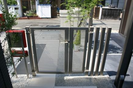 スタイリッシュなデザイン スタイルコート姫路市N様邸門回り写真