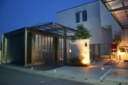 スタイリッシュなデザイン スタイルコート姫路市N様邸ライトアップ2