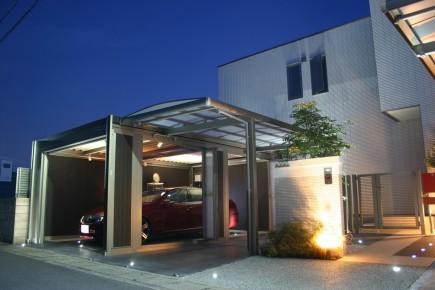 スタイリッシュなデザイン スタイルコート姫路市N様邸ライトアップ写真2