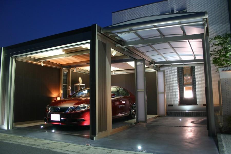 スタイリッシュなデザイン スタイルコート姫路市N様邸ライトアップ写真