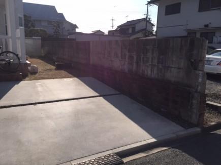 白で統一された洋風住宅に合ったお庭 姫路市N様邸施工前1